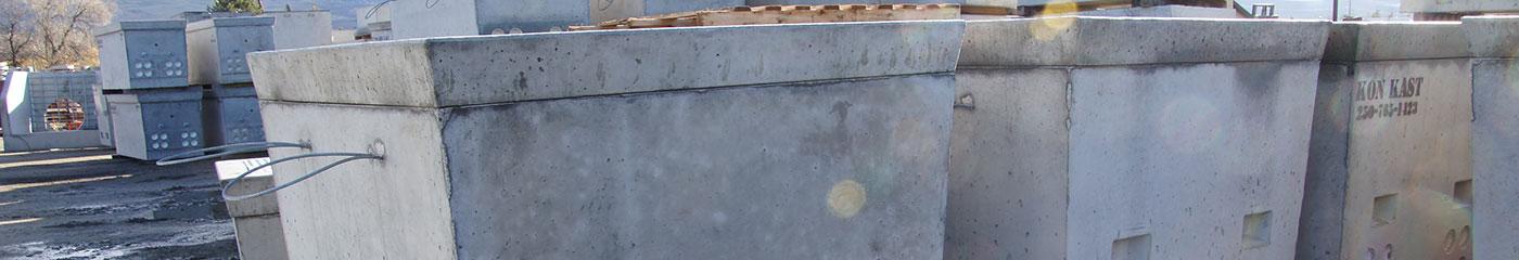 Precast Concrete Telephone Vaults, Pull Boxes, Service Boxes BC